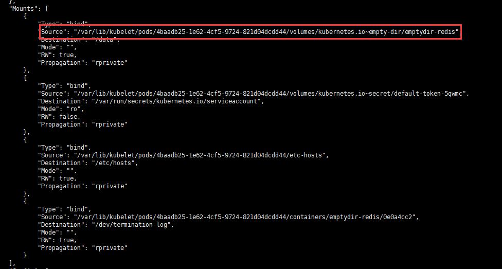 empty存储mount信息